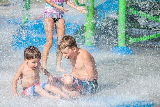 Redbud Splash Pad in Redbud Park in Abilene Texas