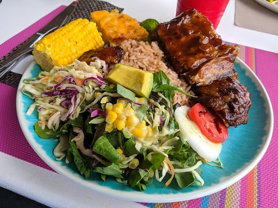 A ribs lunch, extremely scrumptious!