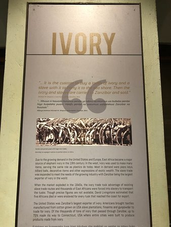 Old Slave Market/Anglican Cathedral: Ivory trade