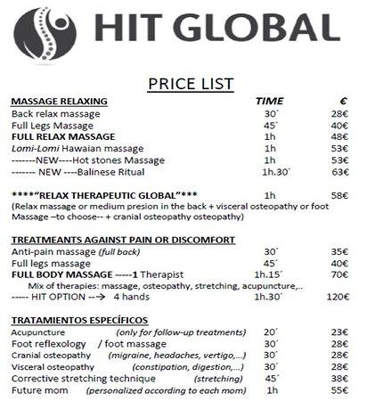 hit global massage tenerife pricelist 1_2 in playa de las americas