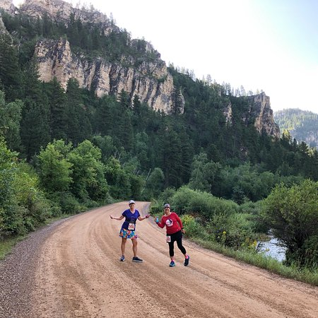 Spearfish Canyon: Along the race course of the Leading Ladies Marathon.