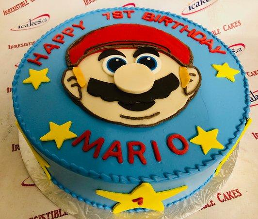 Super Mario birthdaycake from Irresistible Cakes