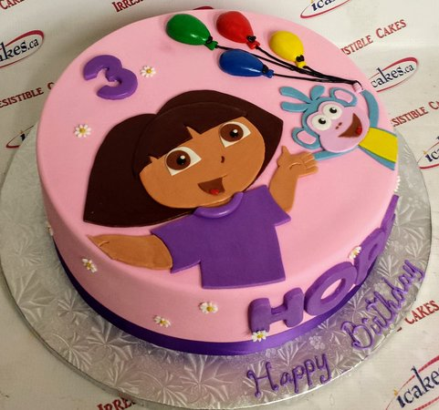 Dora birthday cake from Irresistible Cakes