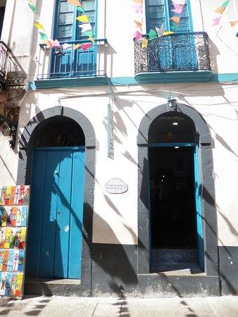 """The headquarters of """"Filhos de Gandhi"""" in Salvador's Pelourinho."""