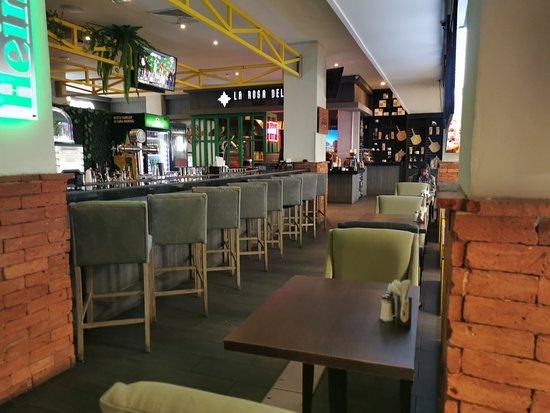 San Salvador, El Salvador: interior of the restaurant at the international airport