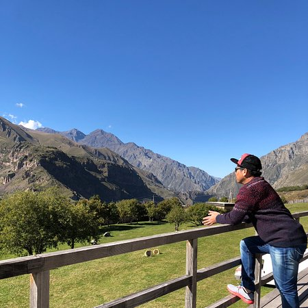 Viewing the kazbegi mountain