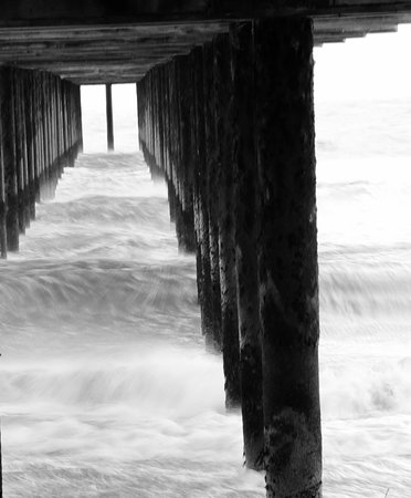 Under Southwold Pier on a stormy day...