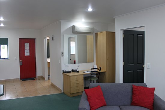 Desk and Wardrobe in One Bedroom Unit