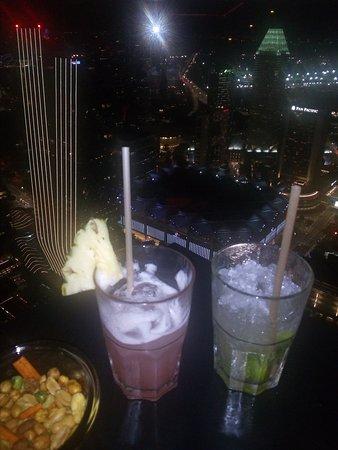 Refreshing Singapore Sling and Virgin Mojito