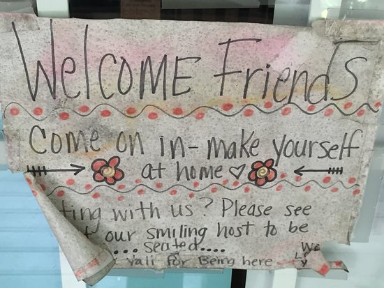 Wildflower Cafe: Sign on front door