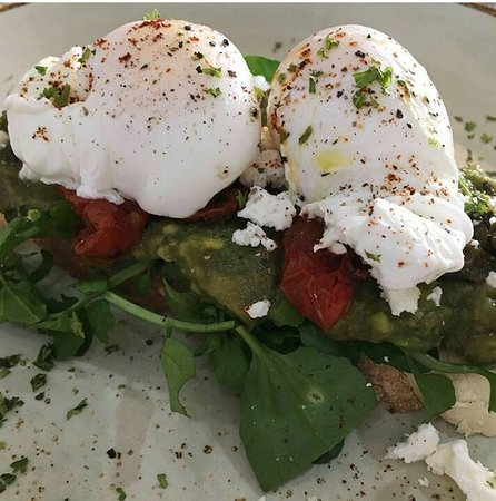 A simple poached egg made delicious. 🌿☀