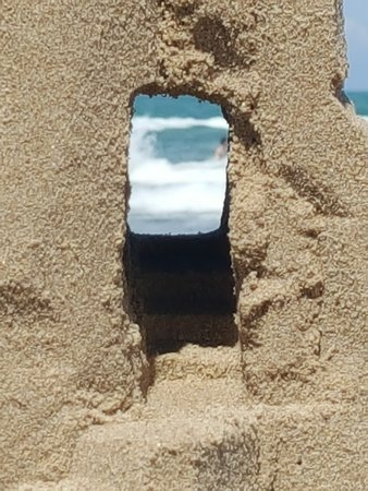 Sandcastle Lessons: A view from a castle doorway #Sandnation