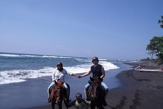 Groovy Horse Riding at Black Sand Beach and Explore Ubud Art Village:  Private Tour Bali Horse Riding 60 Minutes-Around The Black Sand Beach