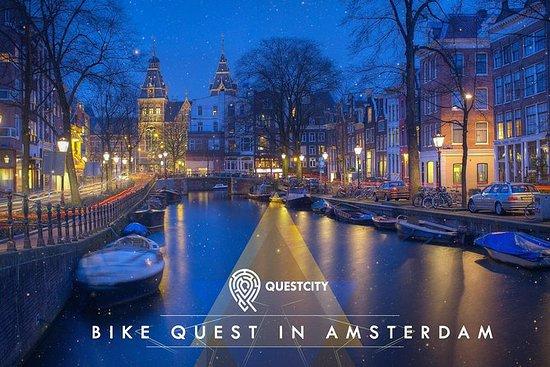 在阿姆斯特丹的5人自行車探索 - 與Questcity的移動應用程序之旅