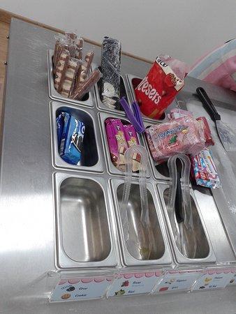 Diversas chuches con las cuales complementar nuestro helado