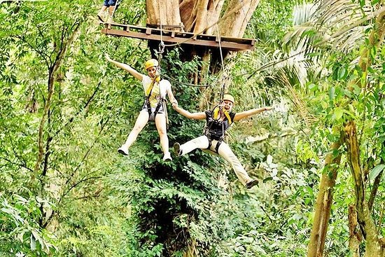 TARZAN ADVENTURE ZIPLINE 21 ESTACIONES...
