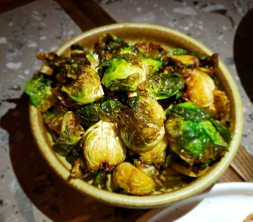 Kinship: Fried Brussels and Japanese ponzu.  A very different way for preparing brussels, good taste!