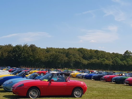 Kentwell Hall: UK Barchetta Club UK Tour 23 August 2019 - 65 cars on tour.