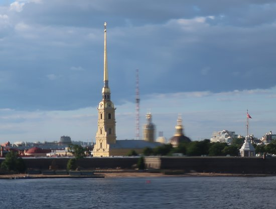 Look across the River Neva to Peter and Paul Fortress
