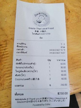 Grazie thai local food: Platos locales muy buenos y baratos. También tienen zumos ricos