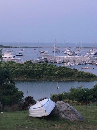Cuttyhunk Harbor at sunset
