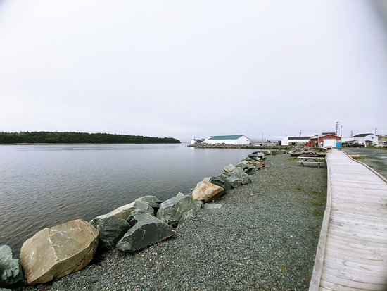 boardwalk along the water at Fisherman's Cove