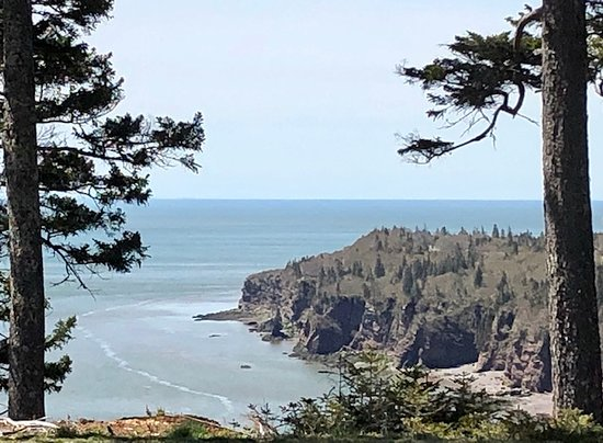 Driving along the Fundy Trail.