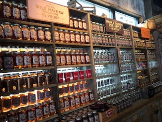Sugarlands Moonshine Distillery Tour in Gatlinburg: lots of moonshine