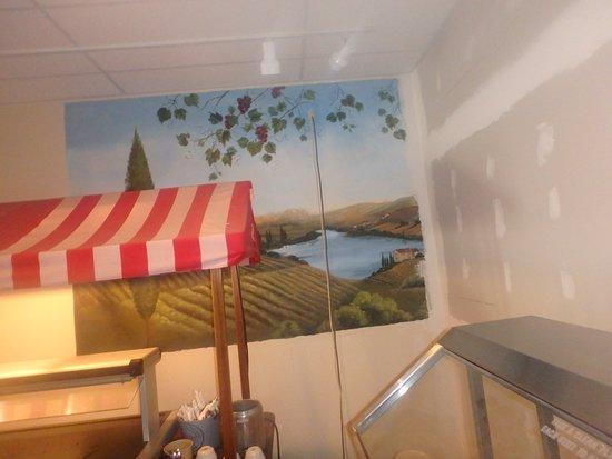 Melrose, Minnesota: mural in restaurant (unfortunately not completely visible)