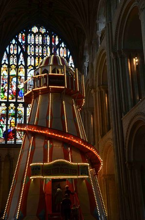 Norwich Cathedral: Close up of Helter Skelter