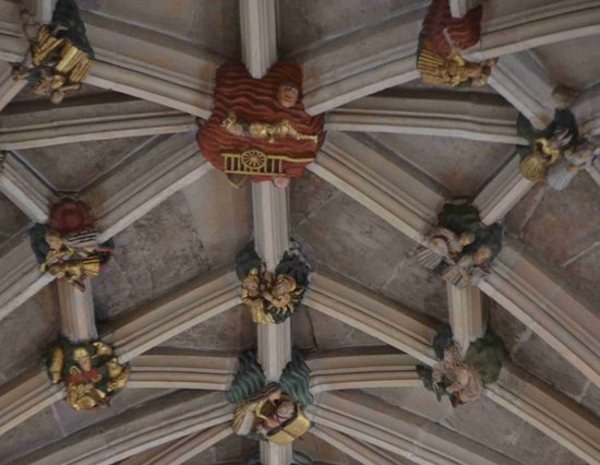 Norwich Cathedral: Close up of ceiling bosses
