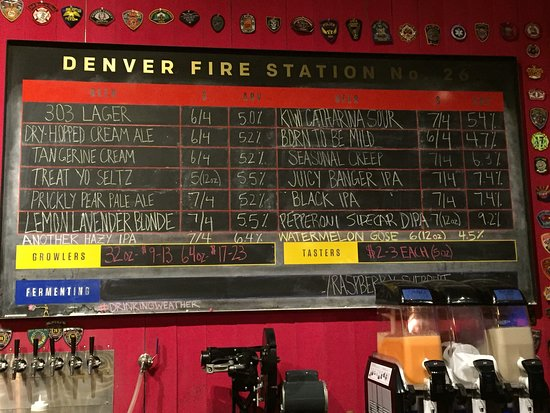 Changing beer menu