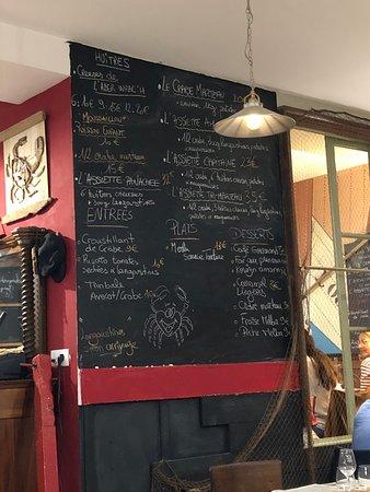 Une idée de menus.