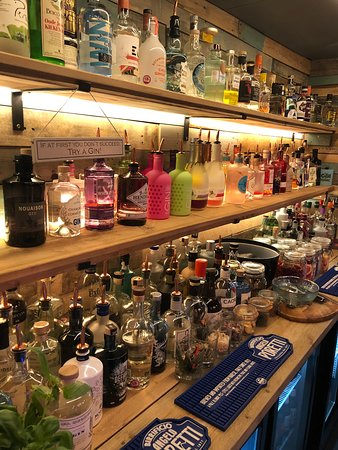 Some of the 170 plus artisan gins available!!