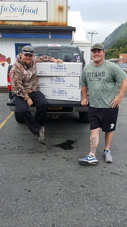 Kodiak Island, AK: One week of fishing with Wesley, 136 lbs of fishing!!!
