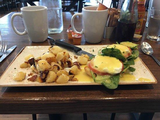 My veggie Eggs Benedict with potatoes