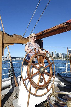 Sydney Harbour Tall Ship Lunch Cruise: Hands on