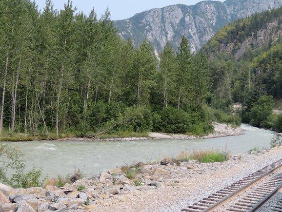 Scenic wilderness of White Pass & Yukon Route Railway