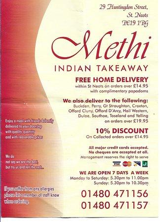 Image Methi Indian Takeaway in East of England