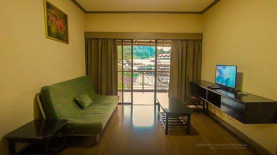 Natasya Resort Cameron Highlands: Sofabed kind of old