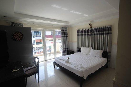 Phnom Penh, Kambodža: Queen Bed Single Room