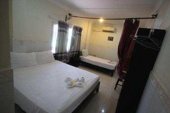 Phnom Penh, Kambodža: Double Bedroom