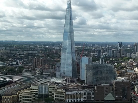 Sky Garden: View of the Shard from the terrace