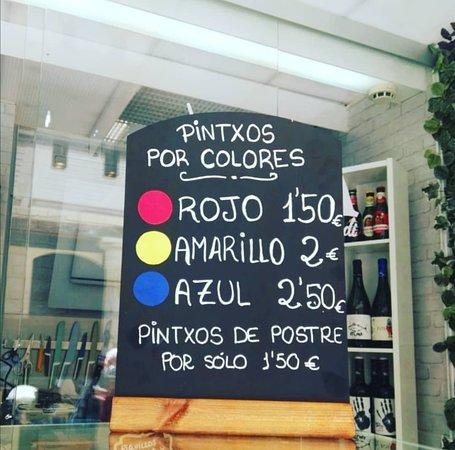 Hacer la cuenta en Aupa Kádi y es muy fácil! Pintxos por colores!!
