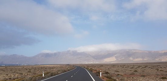 View at the road to Famara