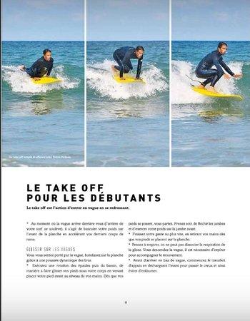 Parution 2017 + 2019 dans Surf Session de l'ouvrage Le Manuel de Surf de Yoann POILANE aux Éditions Amphora