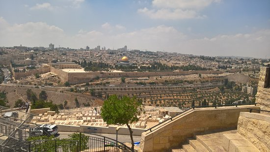 8 Days Footsteps of Christ Holy Land Tour to Israel: Our first view of Jerusalem