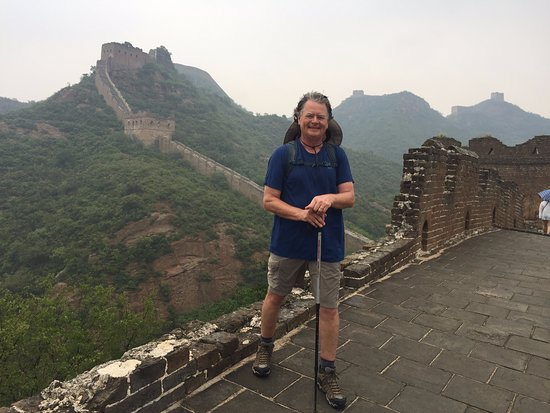 2-day Small group Iconic Great Wall Hiking at Gubeikou&Jinshanling led by farmer: Finished Day 2 in a warm, soaking rain.  A great finish to an incredible adventure!