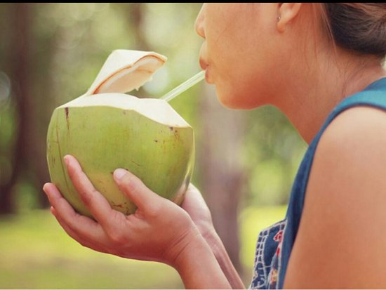 Unity, Giamaica: Coconut water directly from the shell