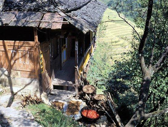 Long Sheng's Dragon Spine Rice Terraces: 2001: Hauseingang in Da Zai